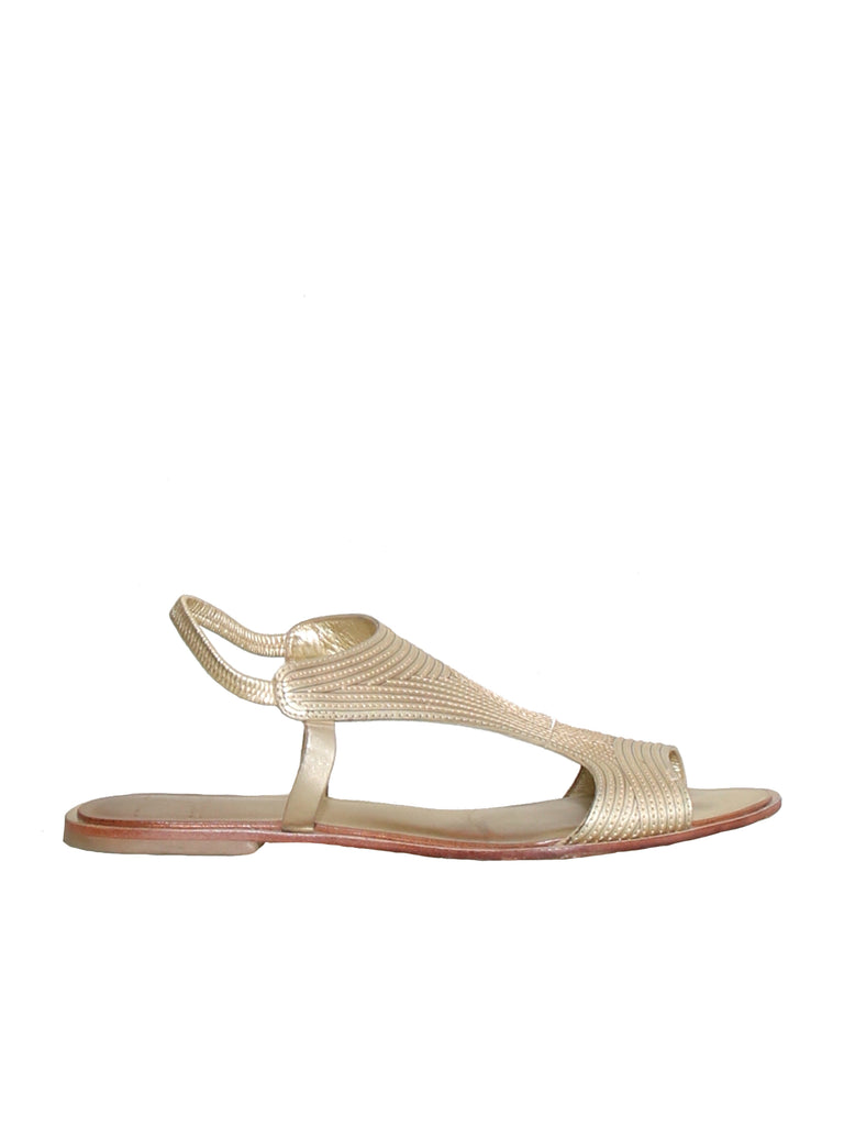 DVF Flat Leather Sandals