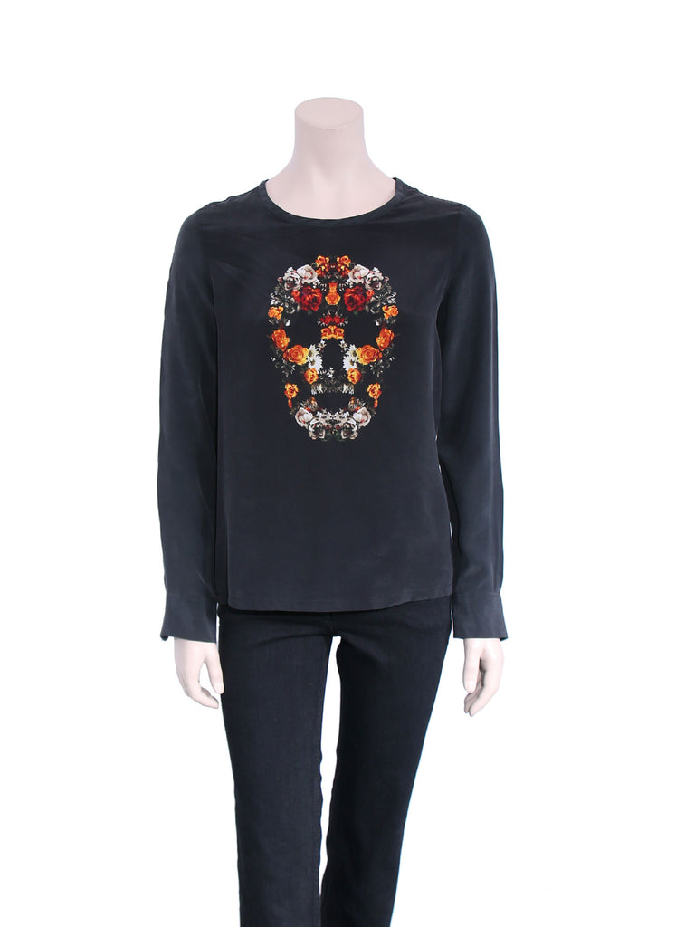 Equipment Liam Silk Skull Blouse