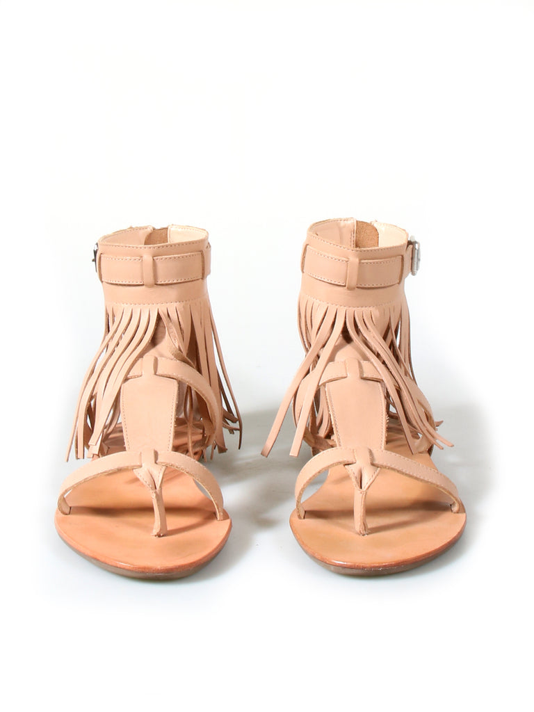 Loeffler Randall Leather Fringe-Accented Sandals