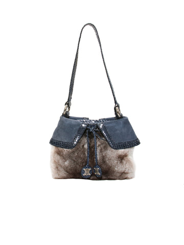Celine Fur Shoulder Bag