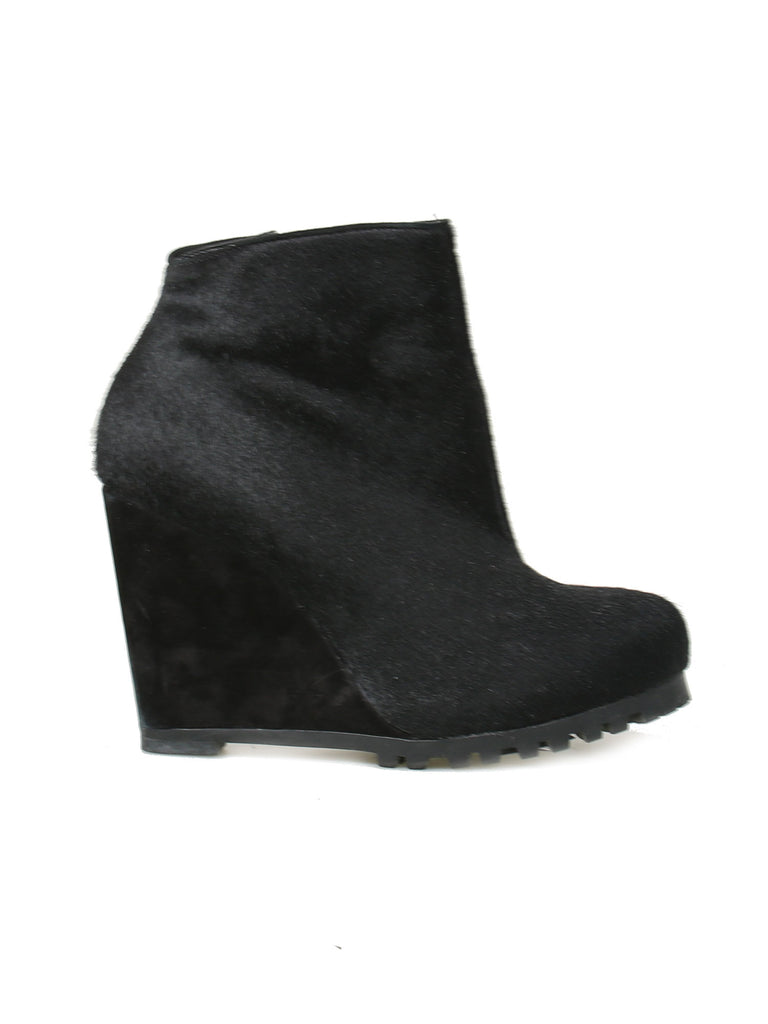 Kurt Geiger Calf Hair Wedge Booties