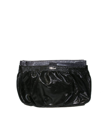 Furla Patent Leather Clutch Bag