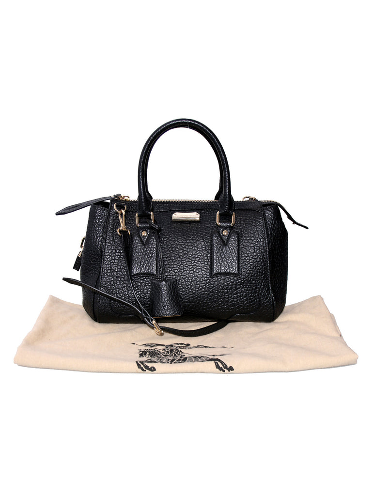 Burberry Gladstone Grained Leather Satchel