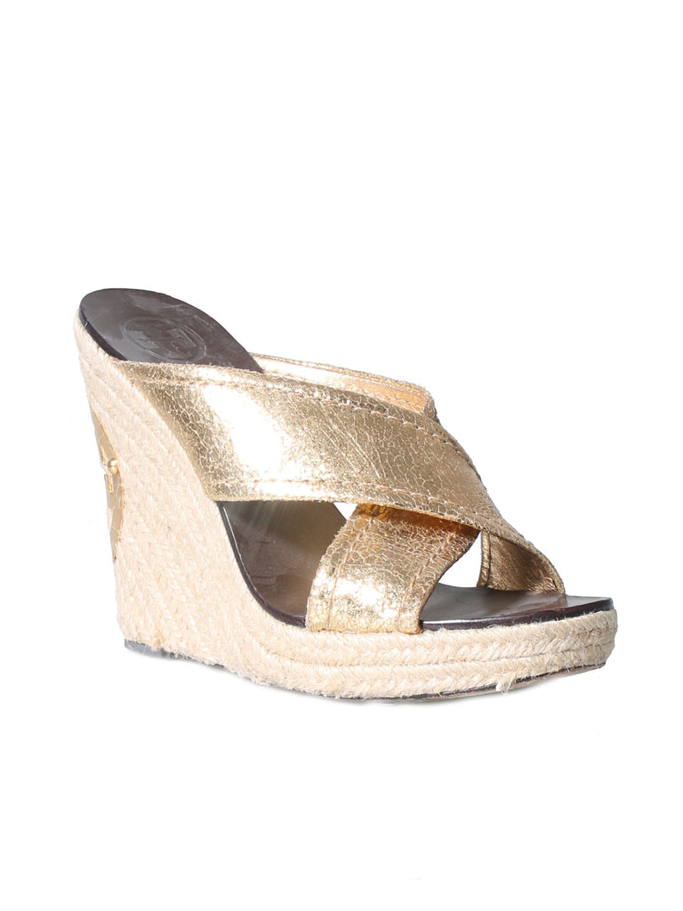 e6af67d0dad Pre-owned Tory Burch Leather Wedge Sandals – Sabrina s Closet