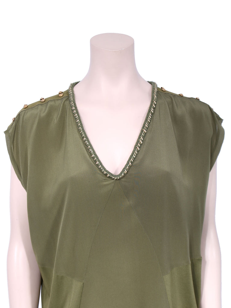 Fendi Studded Silk Top