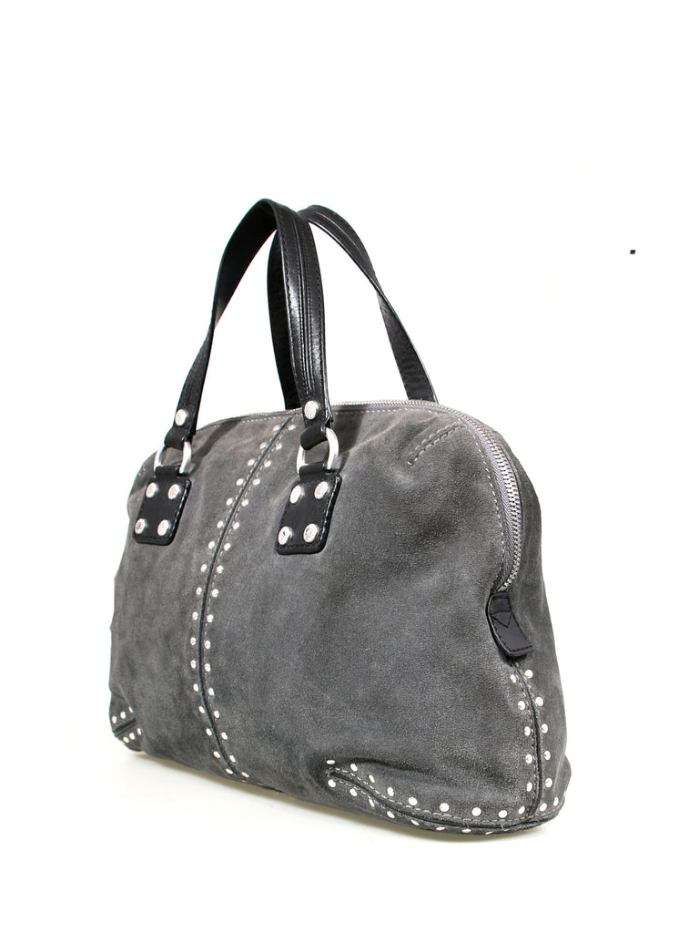 Michael Kors Studded Suede Tote Bag
