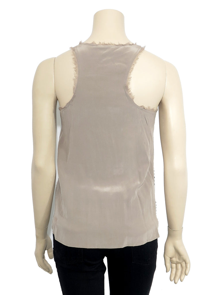 Madison Marcus Silk Sequin Tank
