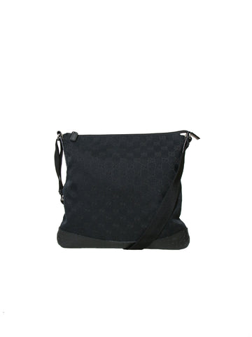 Gucci Canvas Monogram Messenger Bag