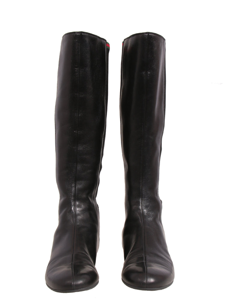 Flat Leather Boots
