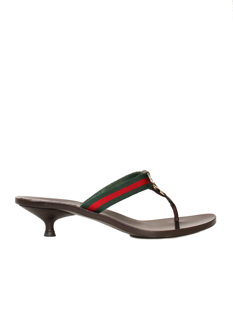 Gucci GG Leather Slide Sandals