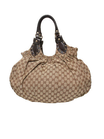 Gucci Monogram GG Canvas Studded Pelham Shoulder Bag