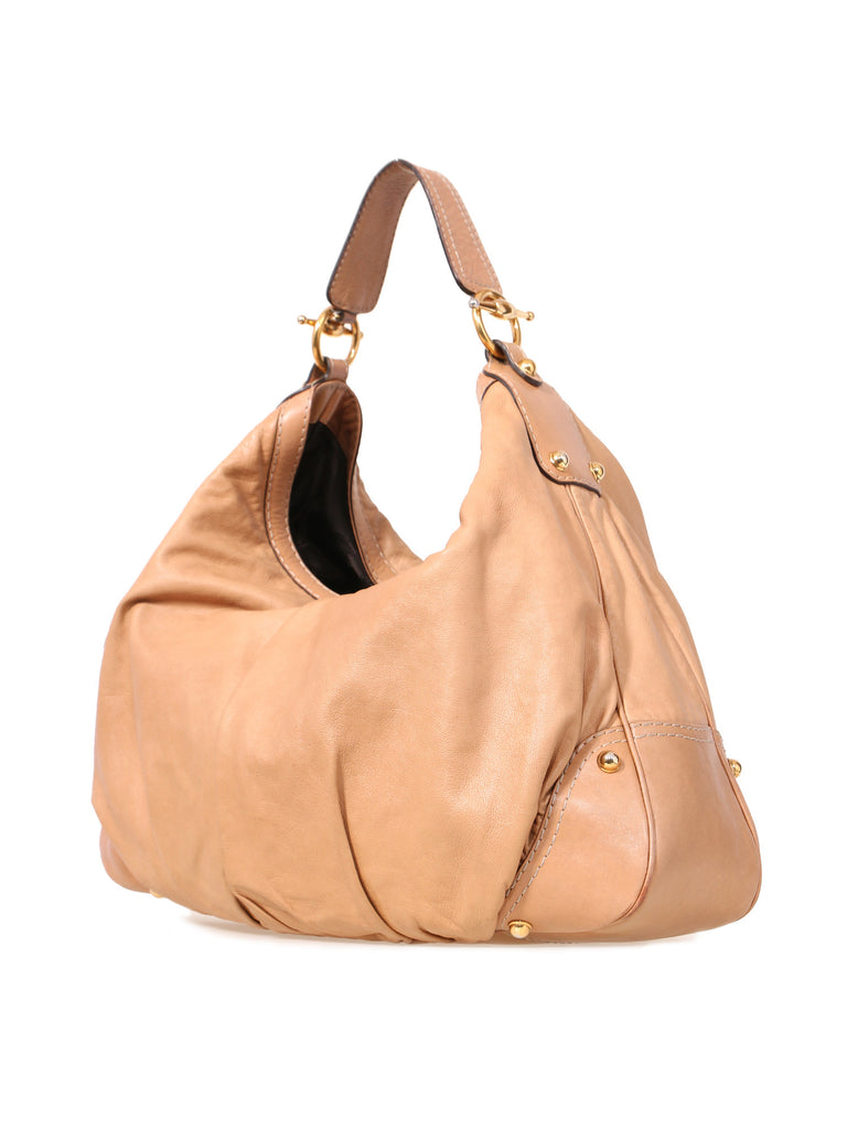Gucci Leather Jockey Hobo Bag