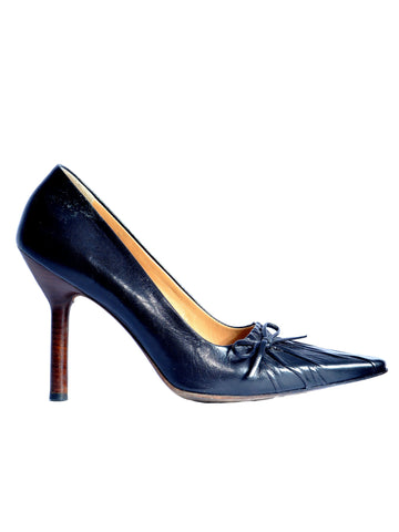 Gucci Ruched Pointed Pumps