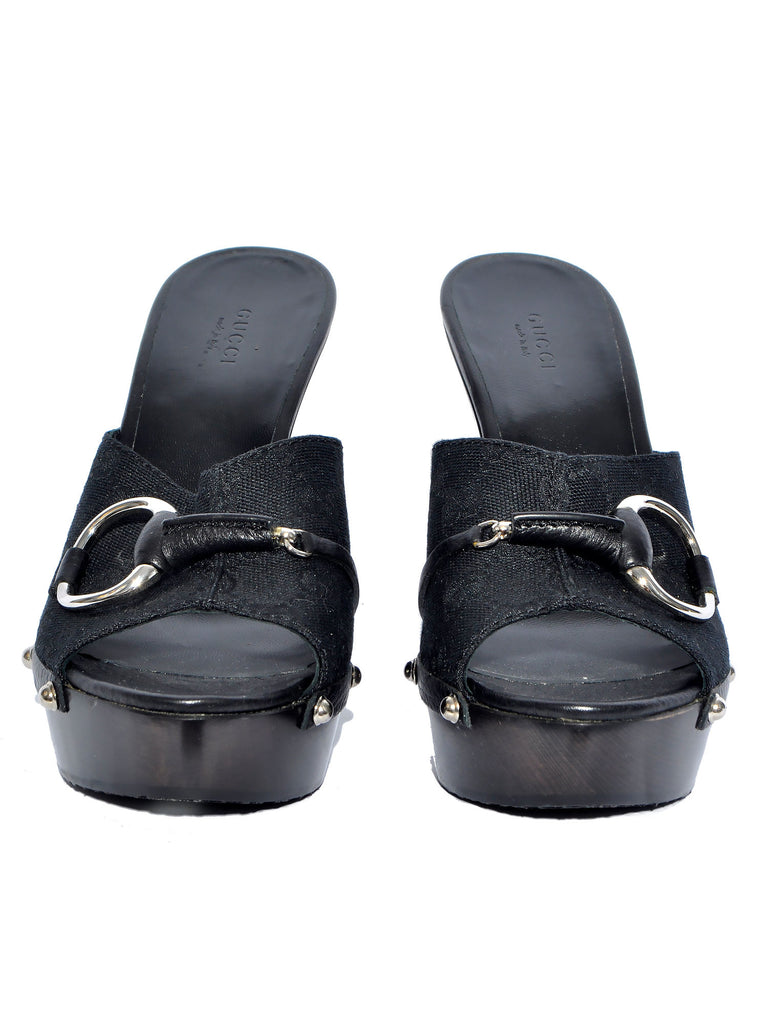 Gucci Horsebit Studded Clogs