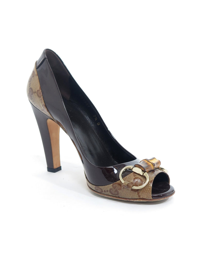 Gucci Monogram Bamboo Pumps