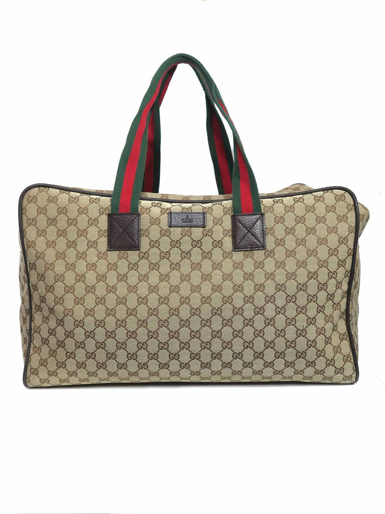 Gucci Original GG Canvas Carry-On Duffle Bag