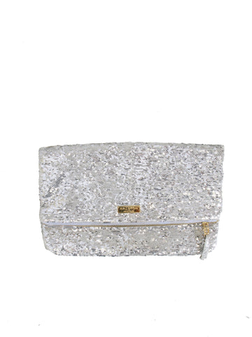 Halston Heritage Jenny Fold Sequinned Clutch Bag