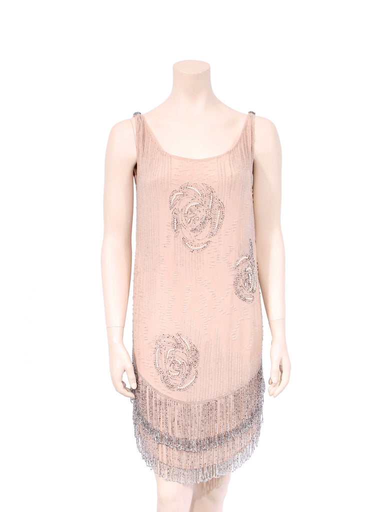 Beaded Silk Dress