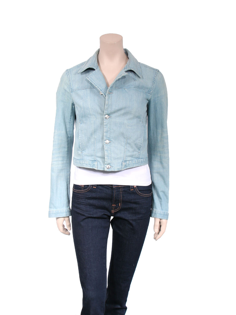Helmut Lang Cropped Denim Jacket