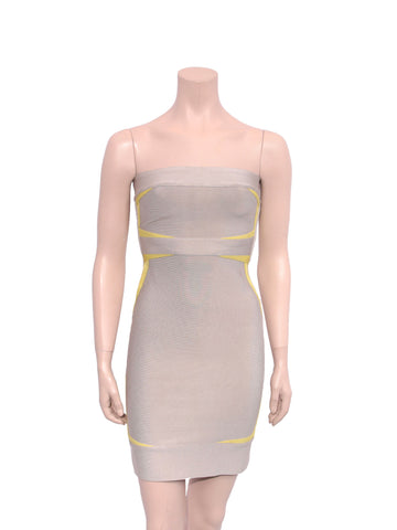 Herve Leger Strapless Bandage Dress