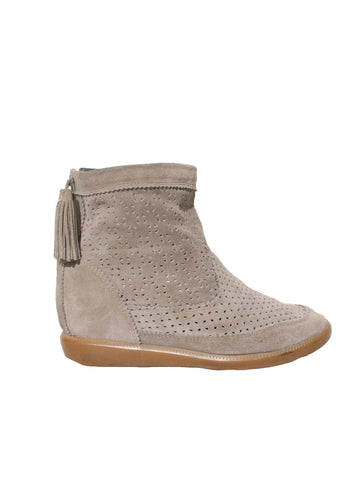 Isabel Marant Basley Suede Perforated Ankle Boots