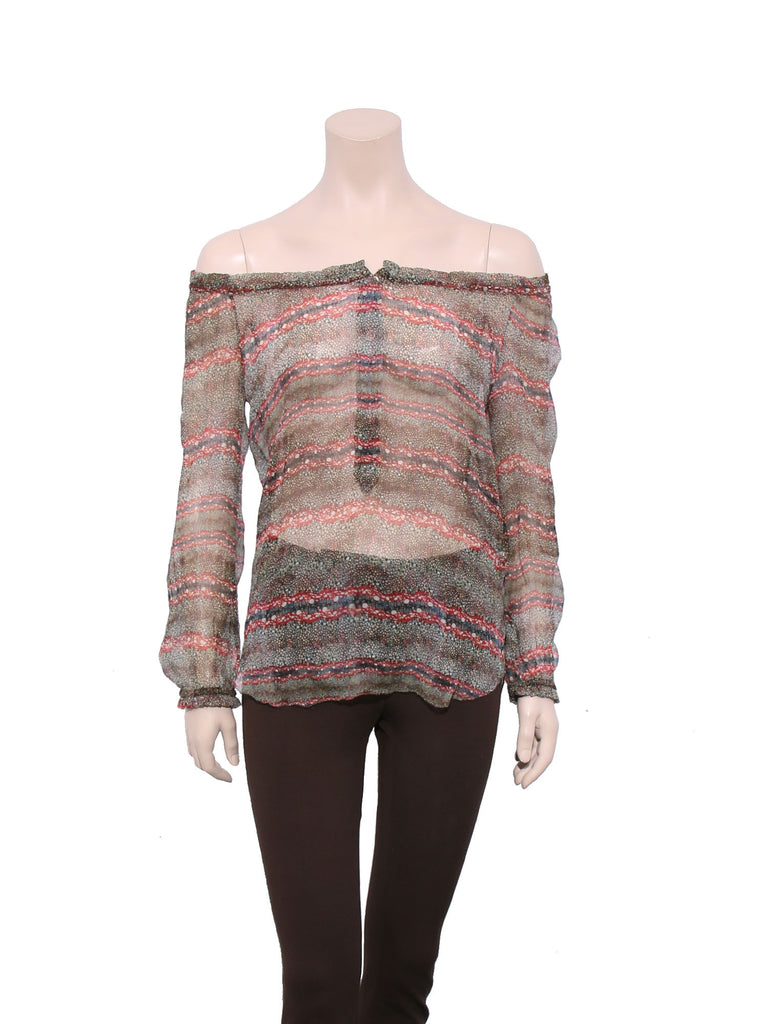 Isabel Marant Semi-Sheer Printed Top