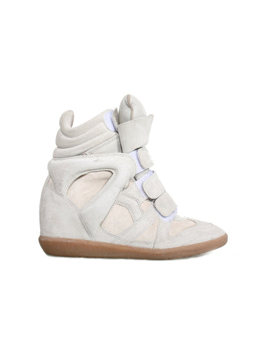 Isabel Marant Suede Bekett Wedge Sneakers