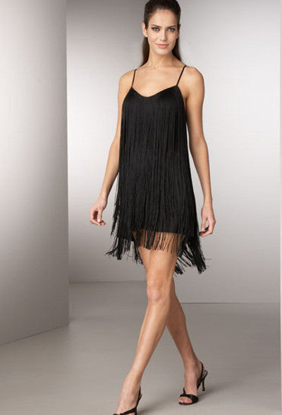 Jay Godfrey Toni Cami Fringe Dress