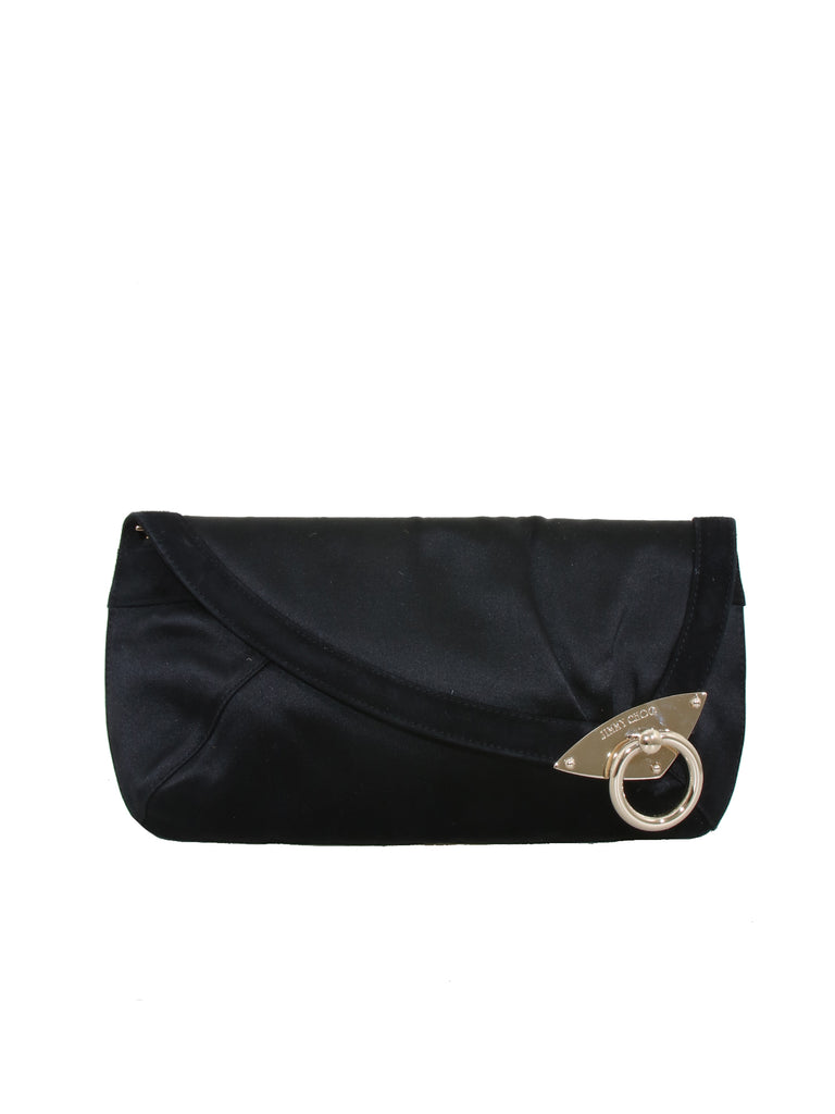 Jimmy Choo Satin Carissa Clutch Bag