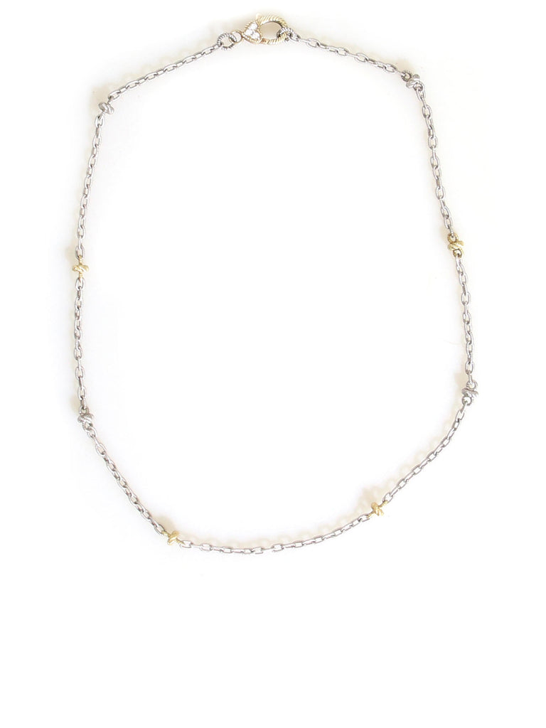 Judith Ripka Two-Tone Chain Necklace
