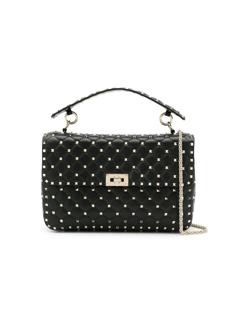 Valentino Large Rockstud Spike Leather Bag