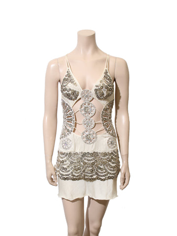 La Perla Beaded Cut-Out Dress