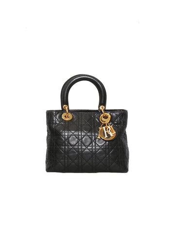 Christian Dior Medium Lady Dior Lambskin Bag
