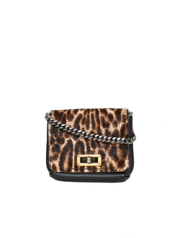 Lanvin Ponyhair Leopard Happy Mini Bag