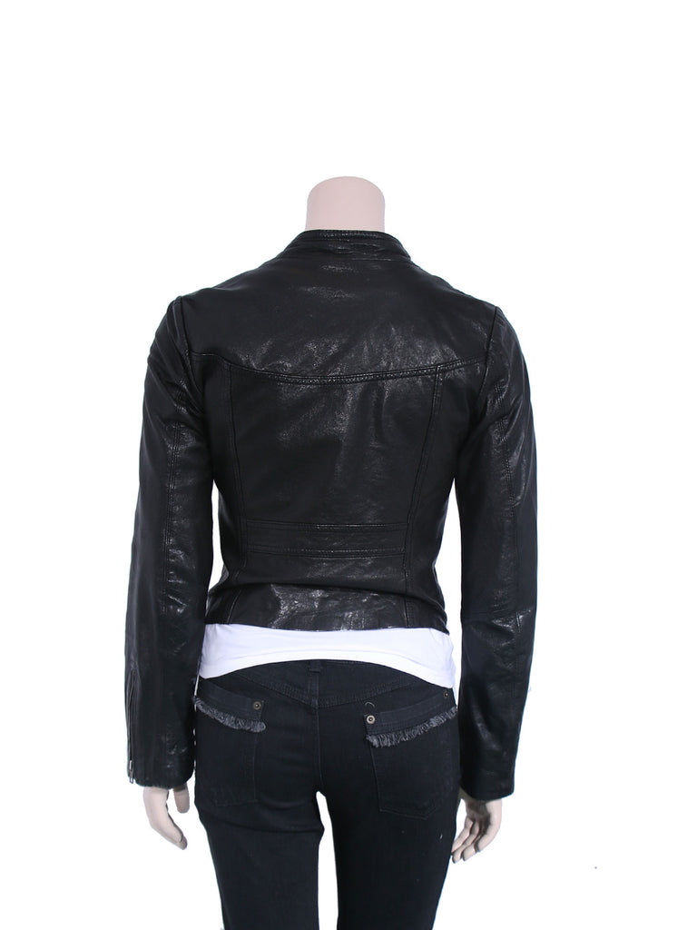 Line Leather Jacket