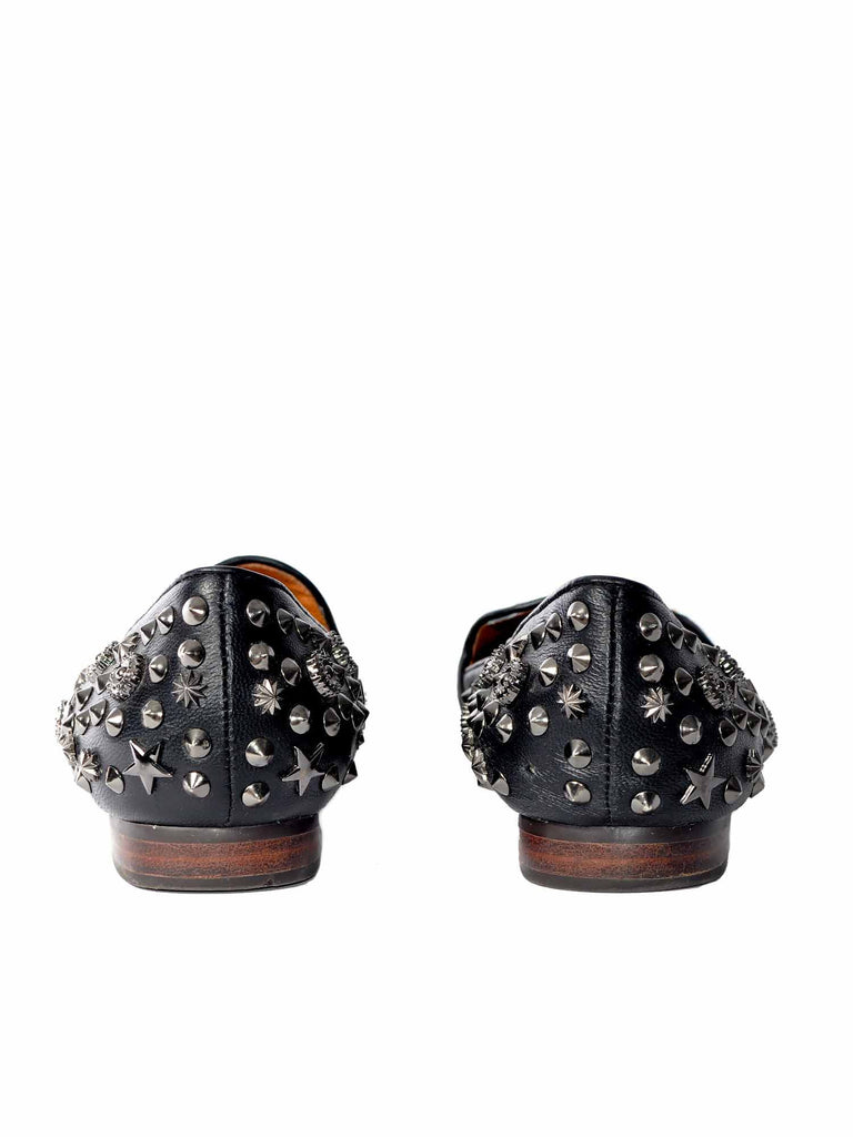 Jeffrey Campbell Studded Leopard Loafers