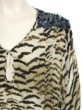 Madison Marcus Leopard Silk Top