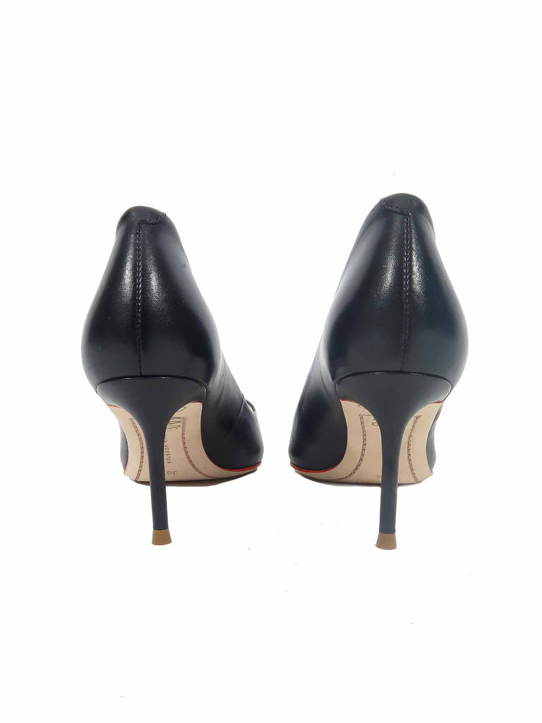 Sophia Webster Lola Pointed Leather Pumps