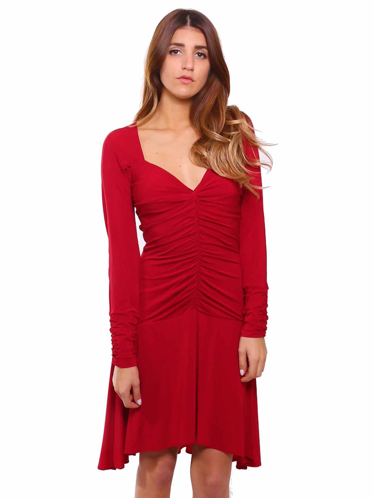 BCBG MaxAzria Jersey Ruched Midi Dress