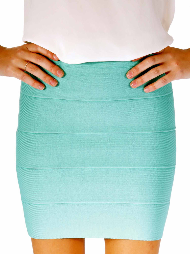 BCBG MaxAzria Simone Textured Power Skirt