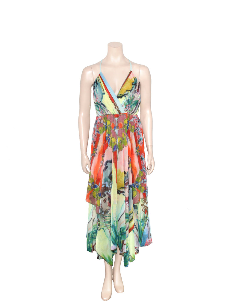 alice + olivia Orly Hankerchief Dress