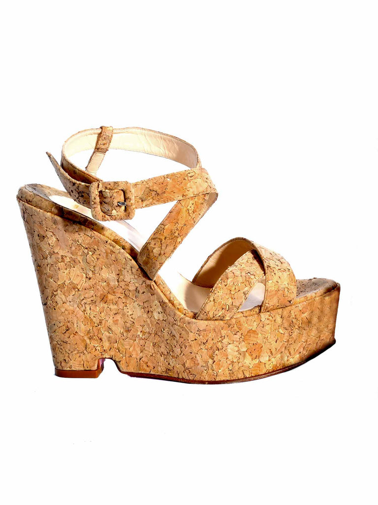Christian Louboutin Cork Wedges