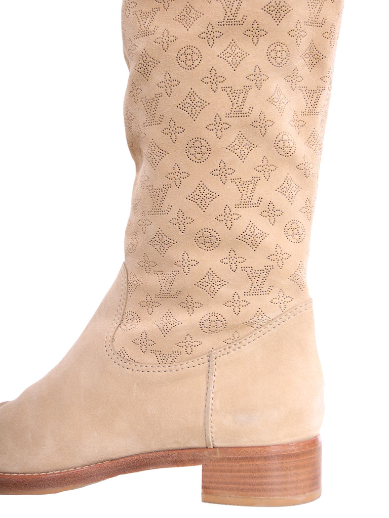 Louis Vuitton Monogram Suede Boots