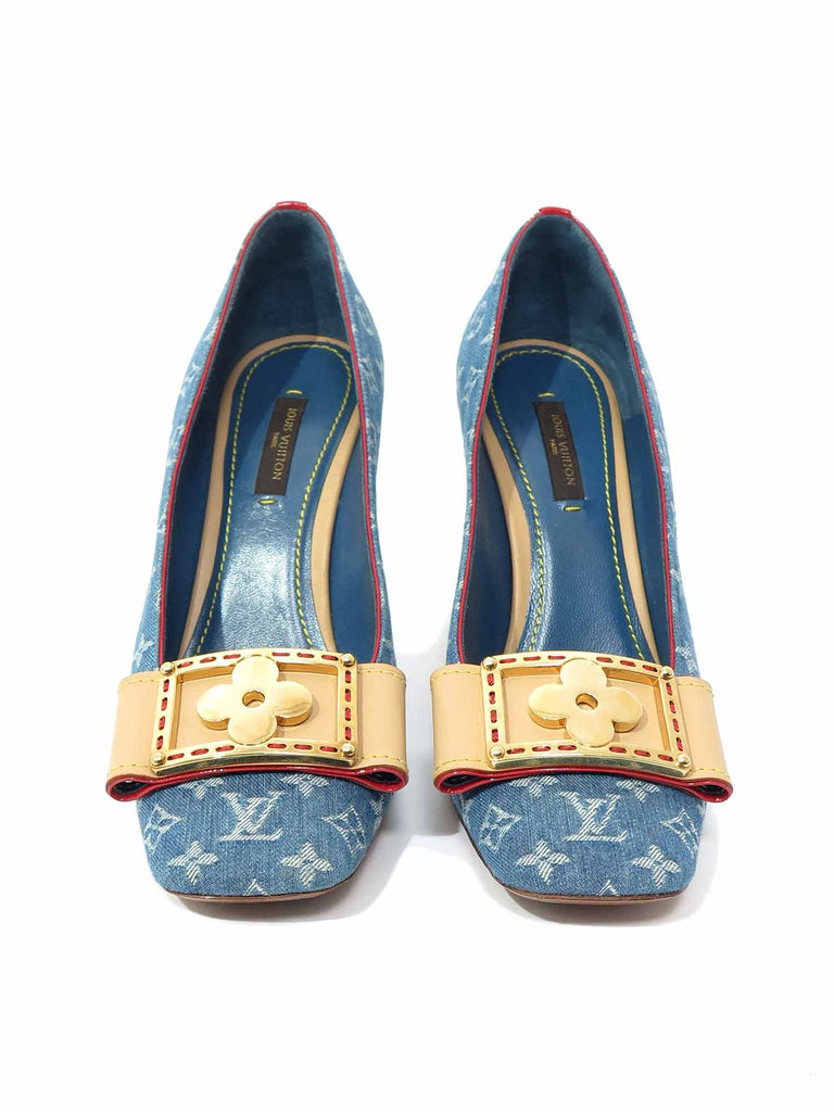 Louis Vuitton Monogram Denim Pumps