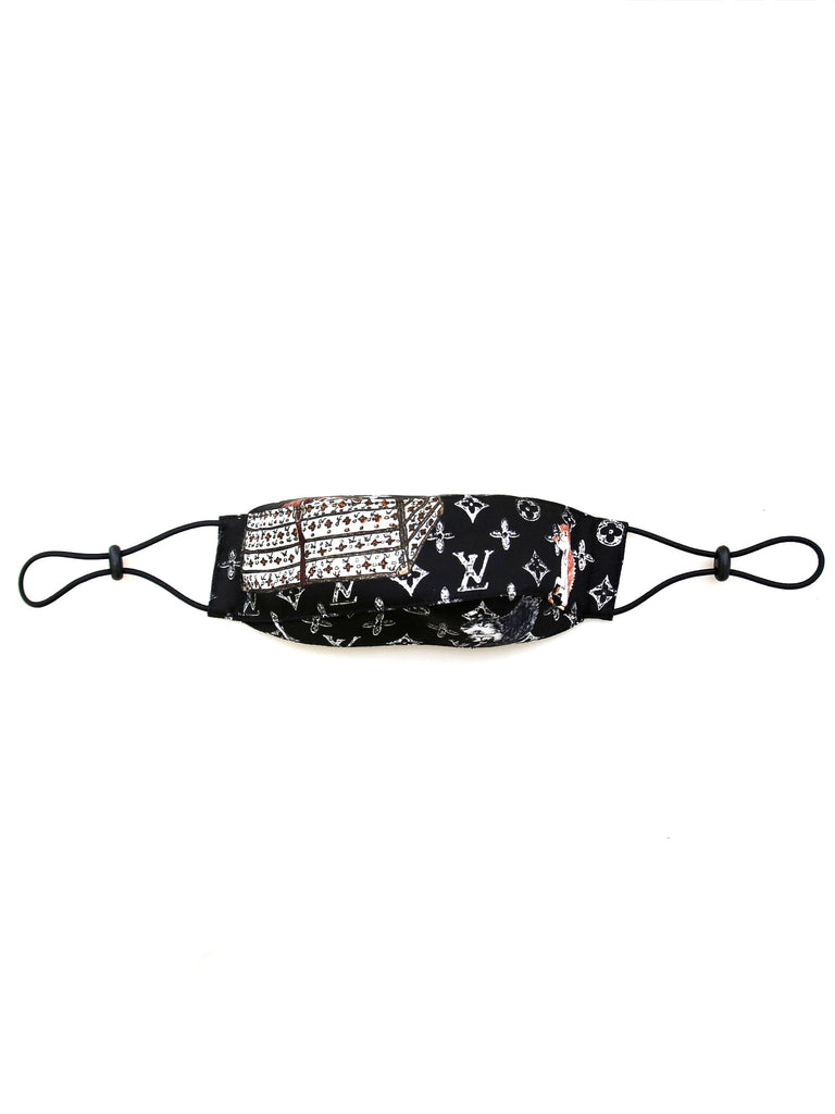 Recycled Louis Vuitton x Grace Coddington Fabric Face Mask