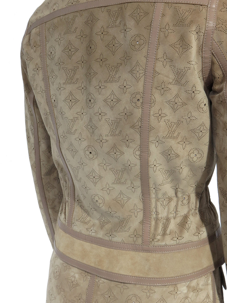 Louis Vuitton Suede Perforated Monogram Jacket