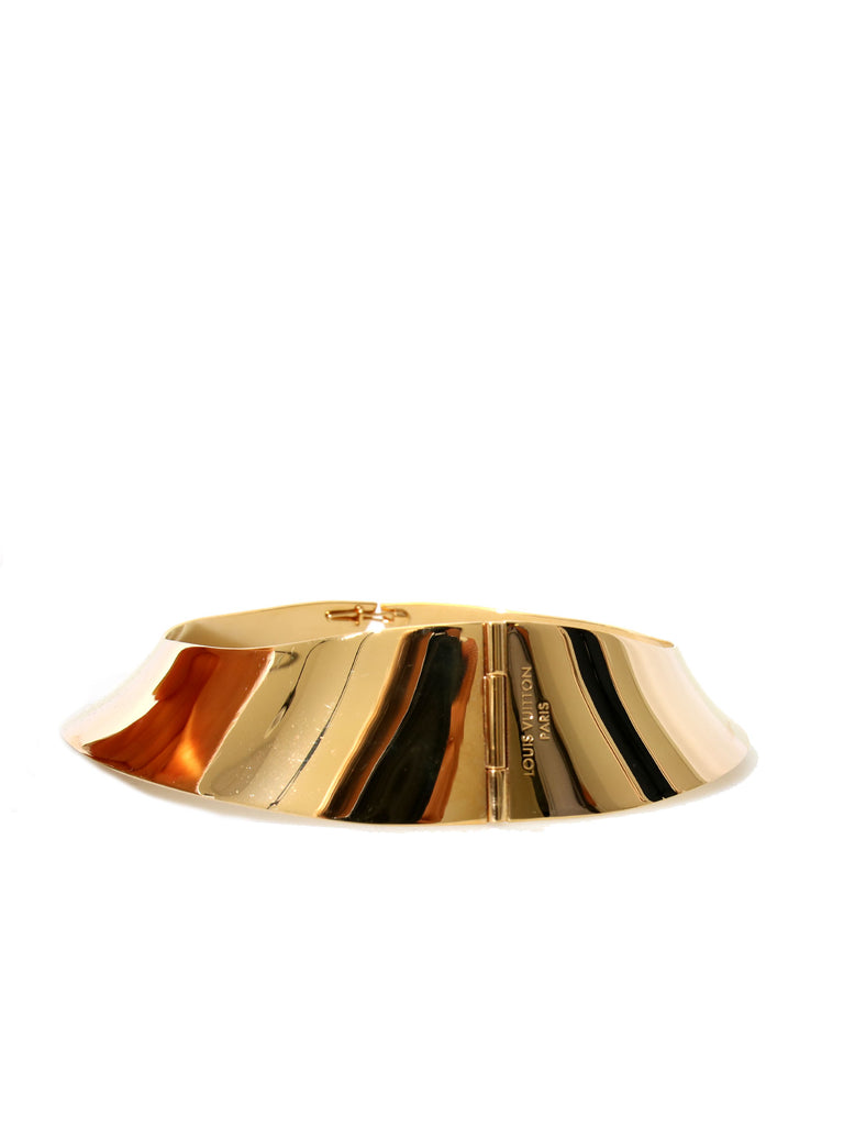 Louis Vuitton Gold-Tone Collar Necklace