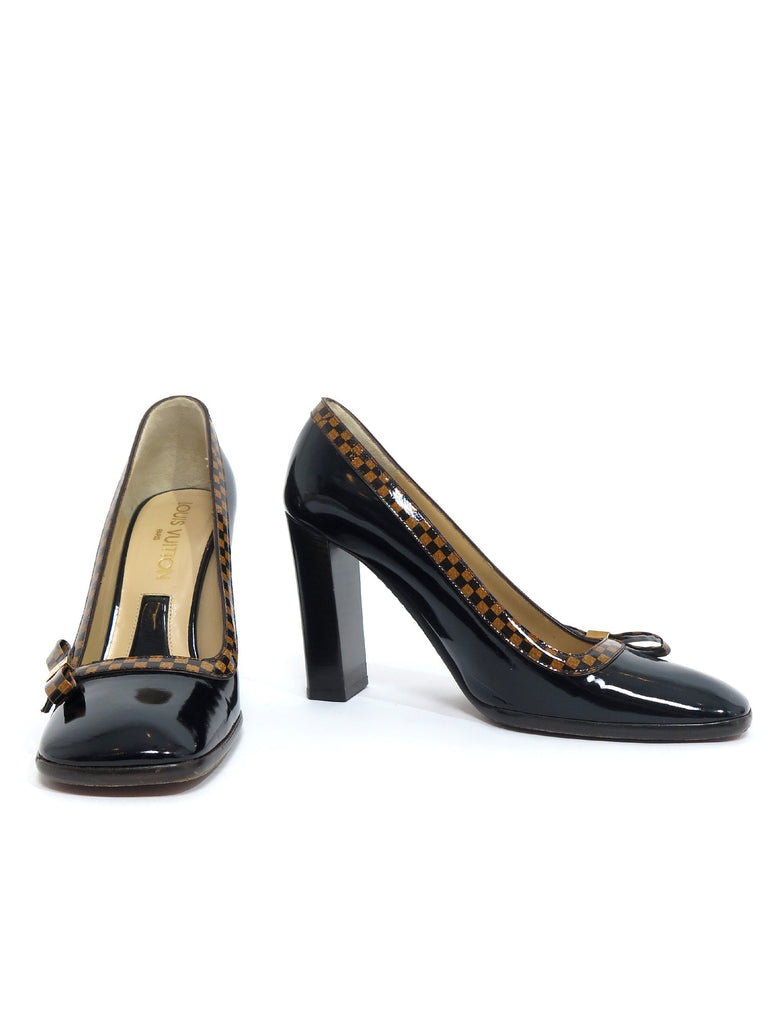Louis Vuitton Patent Leather Damier Pumps