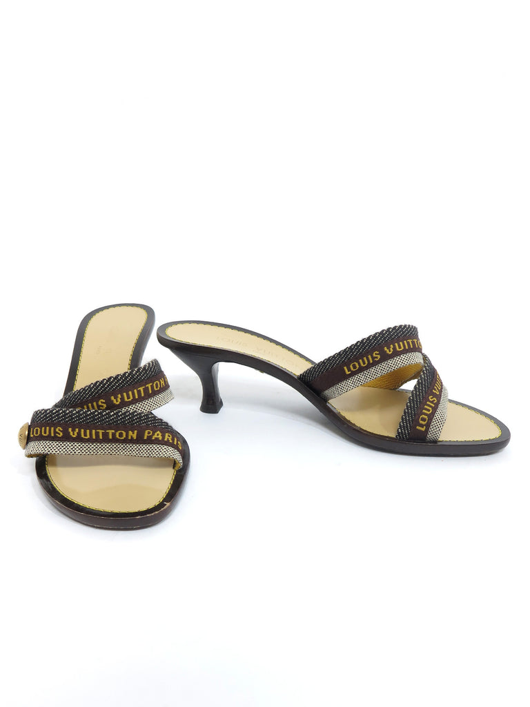 Louis Vuitton Canvas Slide Sandals