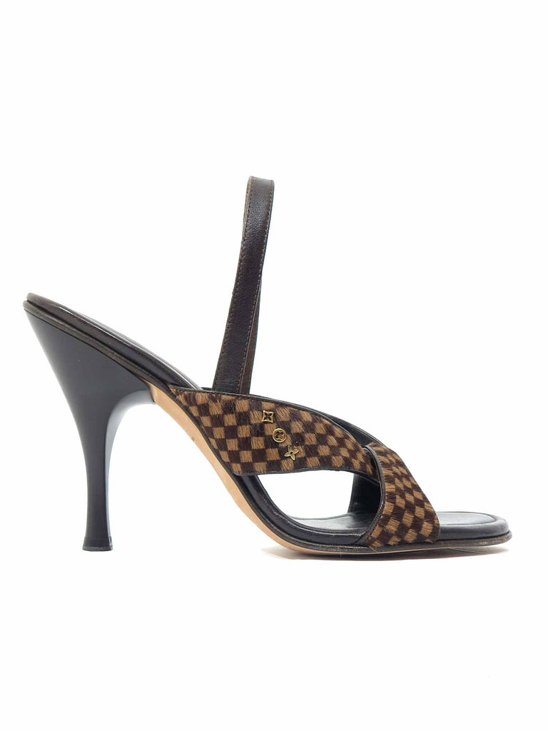 Louis Vuitton Damier Pony Hair Sandals